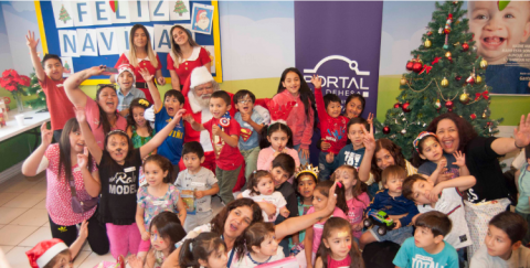 El Viejito Pascuero visita nuestra Fundación junto a nuestros amigos de Portal La Dehesa